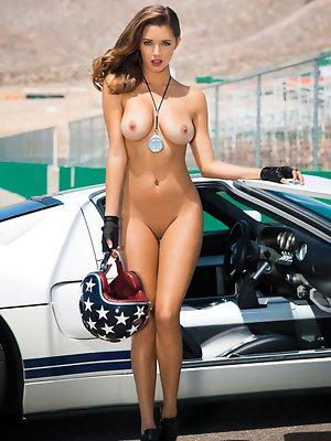 """Gentlemen, start your engines for Alyssa Arcè, our Miss July 2013. Part Hispanic – """"my father is Honduran,� she says – with doe eyes, pouted"""