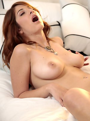 Watch lovely Karina White suck her man off and then part her thighs so he can eat her out before he fucks her horny twat